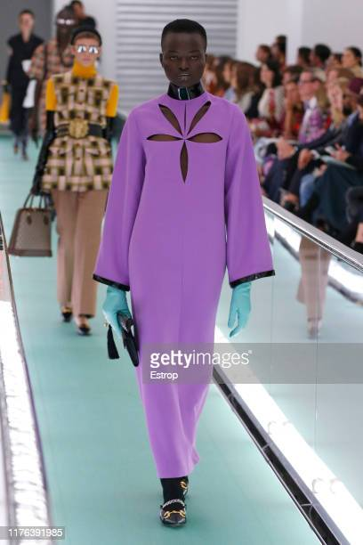 A model walks the runway at the Gucci show during the Milan Fashion Week Spring/Summer 2020 on September 22 2019 in Milan Italy