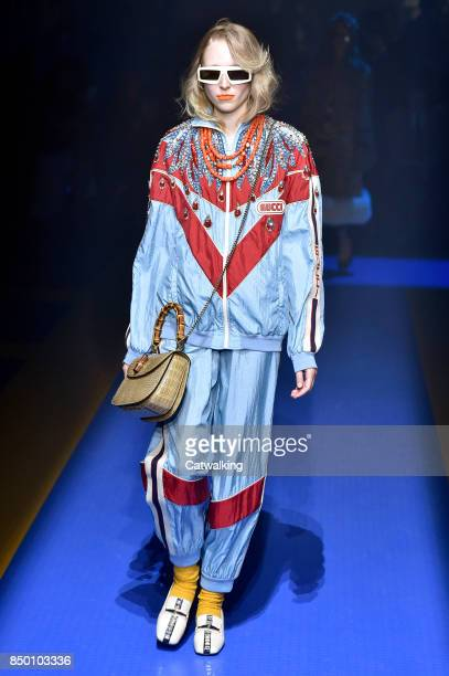 e0d8294477d A model walks the runway at the Gucci Spring Summer 2018 fashion show  during Milan Fashion