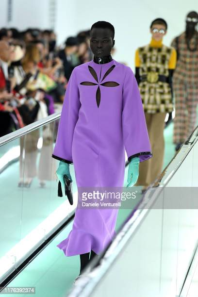 A model walks the runway at the Gucci Spring/Summer 2020 fashion show during Milan Fashion Week on September 22 2019 in Milan Italy