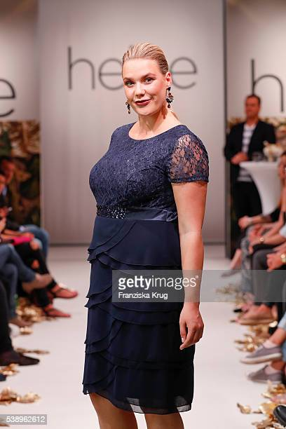 A model walks the runway at the Guido Maria Kretschmer presents new collection by heine on June 09 2016 in Hamburg Germany