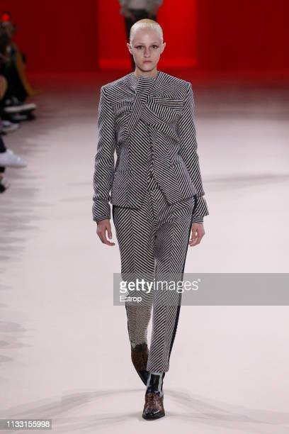 Model walks the runway at the Haider Ackerman show at Paris Fashion Week Autumn/Winter 2019/20 on March 2, 2019 in Paris, France.