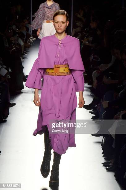 A model walks the runway at the Hermes Autumn Winter 2017 fashion show during Paris Fashion Week on March 6 2017 in Paris France