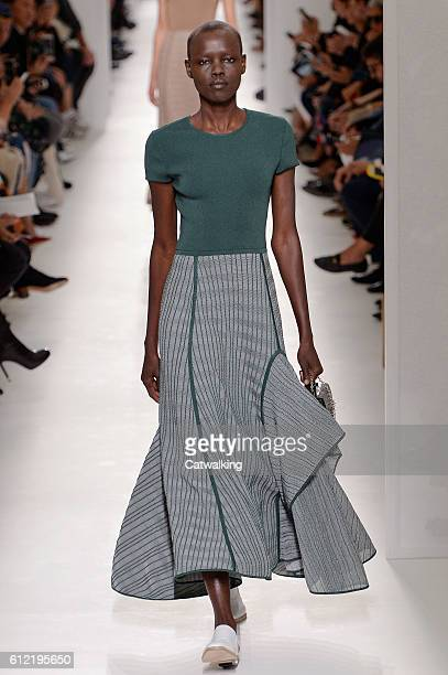 Model walks the runway at the Hermes Spring Summer 2017 fashion show during Paris Fashion Week on October 3, 2016 in Paris, France.