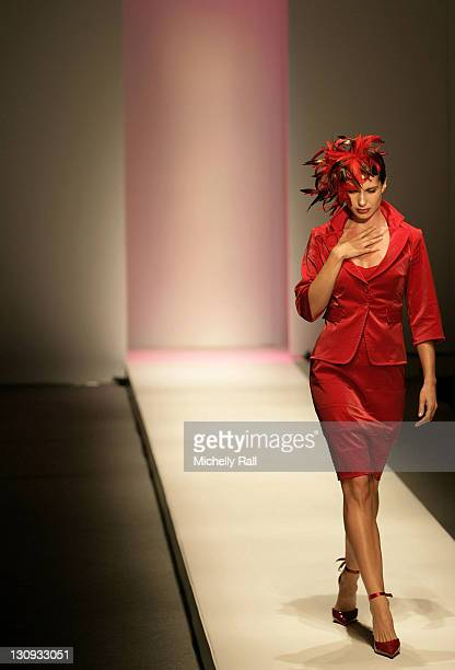 A model walks the runway at the Hip Hop show at the Virgin Mobile Cape Town Fashion Week at the Cape Town International Convention Centre August 14...