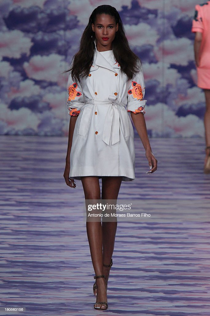 A model walks the runway at the House of Holland show during London Fashion Week SS14 on September 14, 2013 in London, England.
