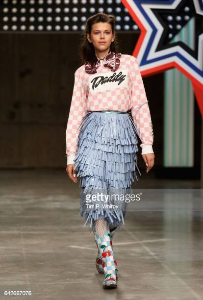 A model walks the runway at the House of Holland show during the London Fashion Week February 2017 collections on February 18 2017 in London England