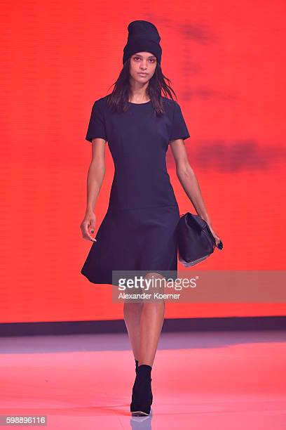 Model walks the runway at the Hugo fashion show during the Bread & Butter by Zalando at arena Berlin on September 3, 2016 in Berlin, Germany.