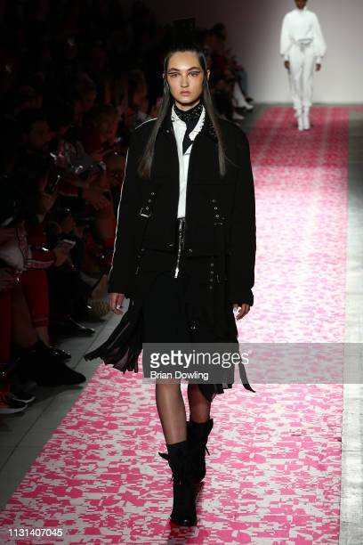 A model walks the runway at the Iceberg show at Milan Fashion Week Autumn/Winter 2019/20 on February 22 2019 in Milan Italy