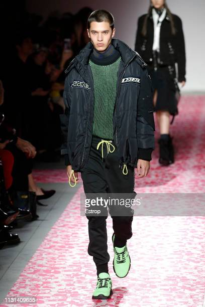 A model walks the runway at the Iceberg show at Milan Fashion Week Autumn/Winter 2019/20 on February 20 2019 in Milan Italy