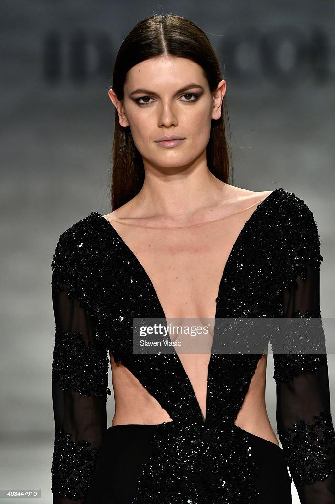 Model Alisar Ailabouni walks the runway at the Idan Cohen