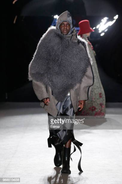 A model walks the runway at the IED Barcelona show during the Barcelona 080 Fashion Week on June 29 2018 in Barcelona Spain
