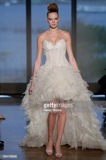 A Model Walks The Runway At Ines Di Santo Fall 2014 Bridal Collection Show
