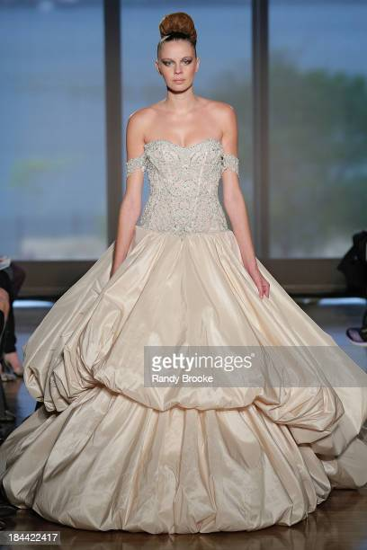 A model walks the runway at the Ines Di Santo Fall 2014 Bridal collection show at The Standard High Line Room on October 13 2013 in New York City