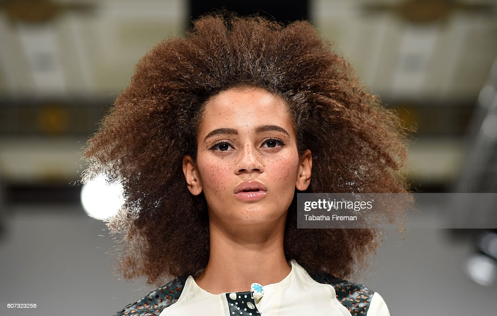 A model walks the runway at the INIFD-LST show at Fashion Scout during London Fashion Week Spring/Summer collections 2017 on September 17, 2016 in London, United Kingdom.