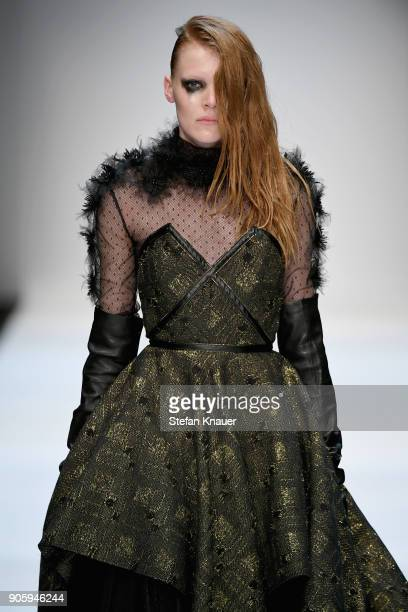 A model walks the runway at the Irene Luft show during the MBFW Berlin January 2018 at ewerk on January 17 2018 in Berlin Germany