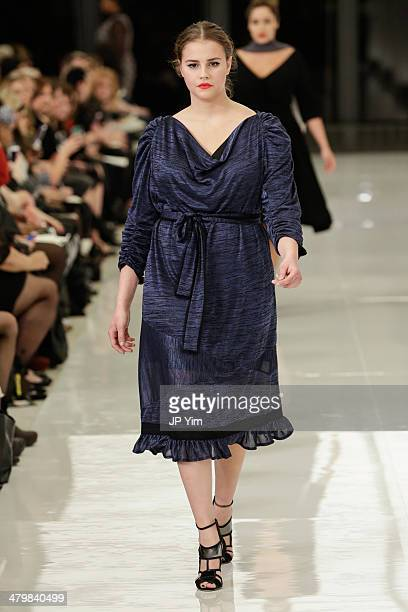 A model walks the runway at the Isabel Toledo for Lane Bryant fashion show at the Seagram Building on March 20 2014 in New York City