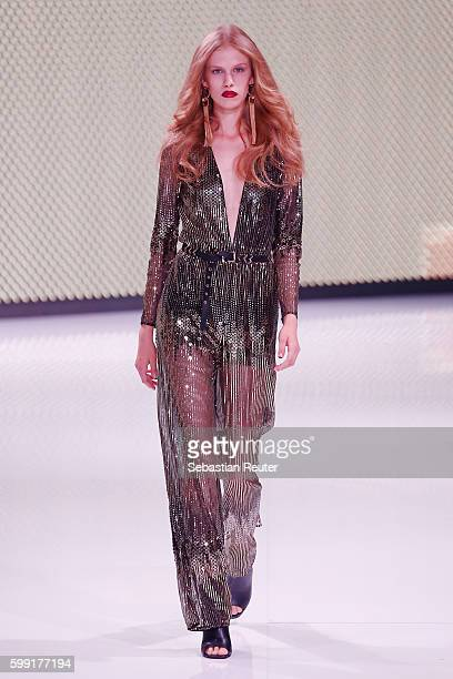 Model walks the runway at the Ivyrevel fashion show during the Bread & Butter by Zalando at arena Berlin on September 4, 2016 in Berlin, Germany.
