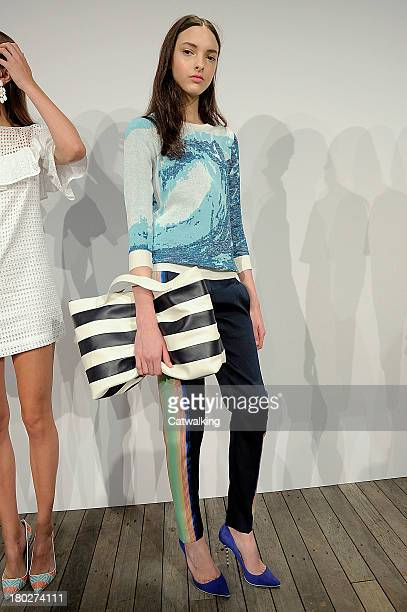 A model walks the runway at the J Crew Spring Summer 2014 fashion show during New York Fashion Week on September 10 2013 in New York United States