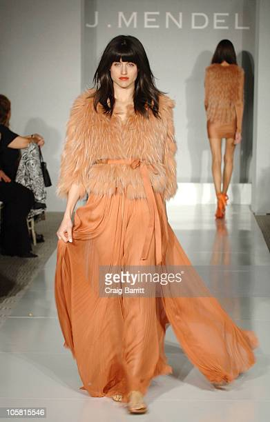 A model walks the runway at the J Mendel Fashion Show For Aviva Children's Family Services at The London Hotel on October 20 2010 in West Hollywood...