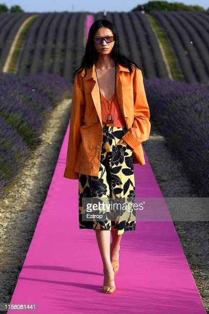 A model walks the runway at the Jacquemus Menswear Spring/Summer 2020 show on June 24 2019 in Valensole France Photo by Estrop/Getty Images