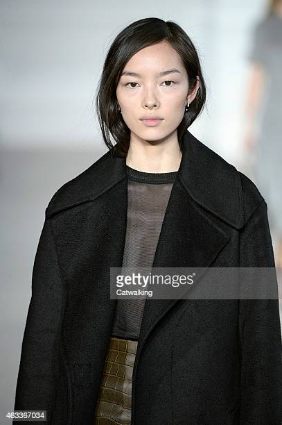 A model walks the runway at the Jason Wu Autumn Winter 2015 fashion show during New York Fashion Week on February 13 2015 in New York United States