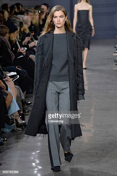 A model walks the runway at the Jason Wu Autumn Winter 2016 fashion show during New York Fashion Week on February 12 2016 in New York United States