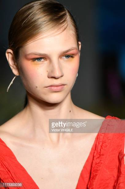 Model walks the runway at the Jason Wu Collection Ready to Wear Spring/Summer 2019 fashion show during New York Fashion Week on September 08, 2019 in...
