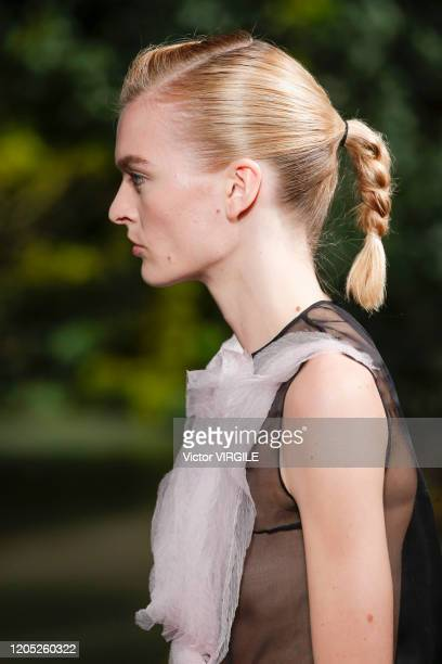 Model walks the runway at the Jason Wu Collection Ready to Wear Fall/Winter 2020-2021 fashion show during February 2020 on February 09, 2020 in New...