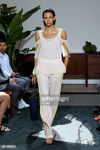 Model walks the runway at the Jason Wu fashon show during New York Fashion Week at Spring Studios on September 9, 2016 in New York City.