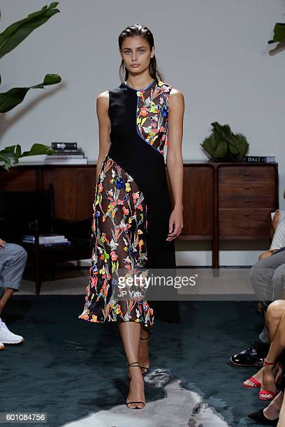 A model walks the runway at the Jason Wu fashon show during New York Fashion Week at Spring Studios on September 9 2016 in New York City