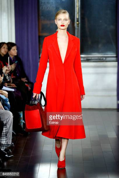 A model walks the runway at the Jason Wu show during the New York Fashion Week February 2017 collections on February 10 2017 in New York City