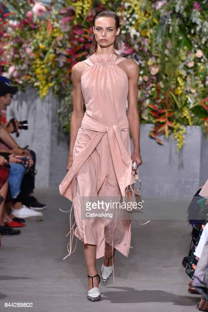 A model walks the runway at the Jason Wu Spring Summer 2018 fashion show during New York Fashion Week on September 8 2017 in New York United States