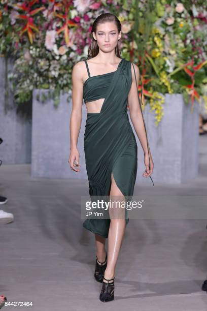 A model walks the runway at the Jason Wu SS 2018 Collection at Fulton Market during New York Fashion Week on September 8 2017 in New York City