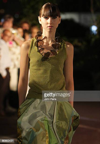 A Model Walks The Runway At Jay McCarroll Show During Miami Gay And Lesbian