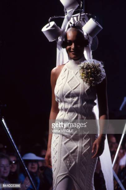 A model walks the runway at the Jean Paul Gaultier Ready to Wear Fall/Winter 19921993 fashion show during the Paris Fashion Week in March 1992 in...