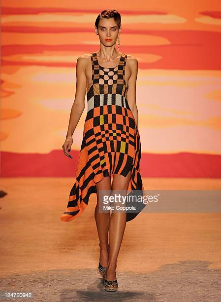 A model walks the runway at the Jen Kao Spring 2012 fashion show during MercedesBenz Fashion Week at The Studio at Lincoln Center on September 11...