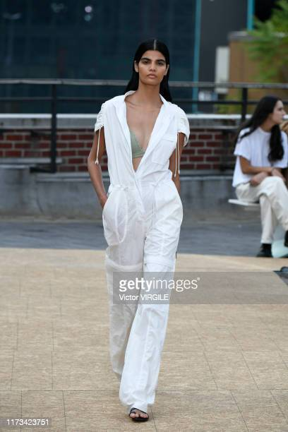 A model walks the runway at the Jonathan Simkhai Ready to Wear Spring/Summer 2020 fashion show during New York Fashion Week on September 09 2019 in...