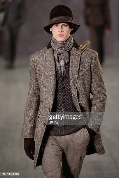 006c202bc35 A model walks the runway at the Joseph Abboud Fall2016 Collection during  NYFW Mens Fall