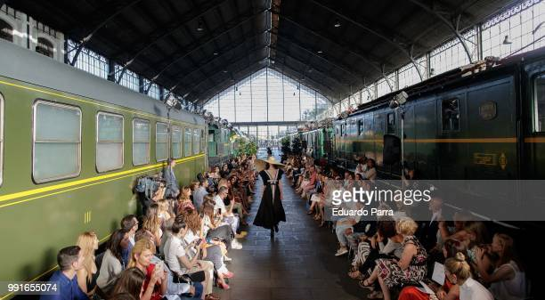 Model walks the runway at the Juana Martin show during the Mercedes-Benz Fashion Week Madrid Spring/summer 2018-19 on July 4, 2018 in Madrid, Spain.