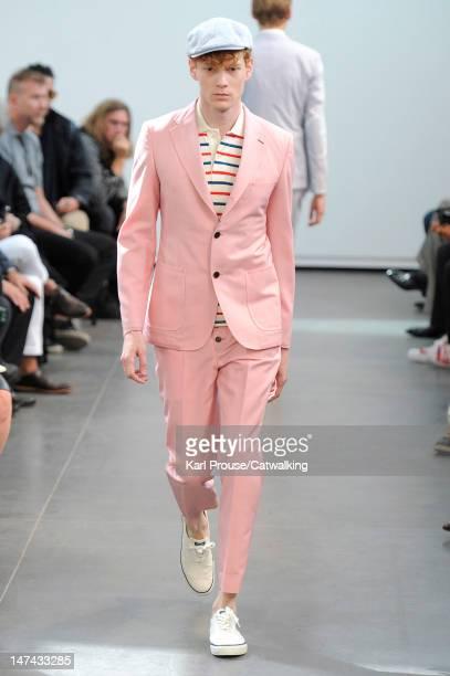 A model walks the runway at the Junya Watanabe Man Spring Summer 2013 fashion show during Paris Menswear Fashion Week on June 29 2012 in Paris France