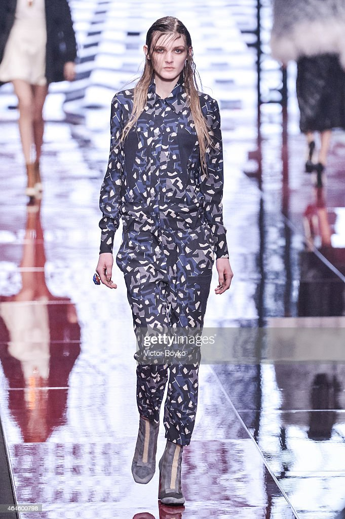 Just Cavalli - Runway & Close-ups - MFW FW2015 : News Photo