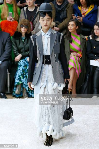 A model walks the runway at the JW Anderson Ready to Wear Fall/Winter 20192020 fashion show during London Fashion Week February 2019 on February 18...