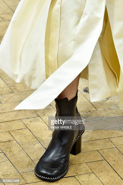 A model walks the runway at the JW Anderson Ready to Wear Fall/Winter 20182019 fashion show during London Fashion Week February 2018 on February 17...