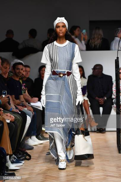 A model walks the runway at the JW Anderson show during London Fashion Week September 2018 on September 15 2018 in London United Kingdom