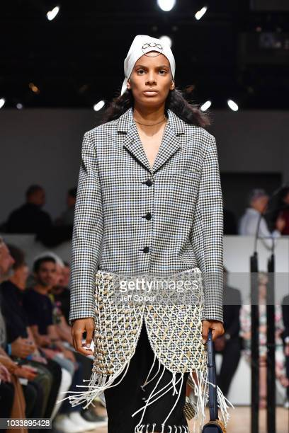 A model walks the runway at the JW Anderson show during London Fashion Week September 2018 on September 15 2018 in London England