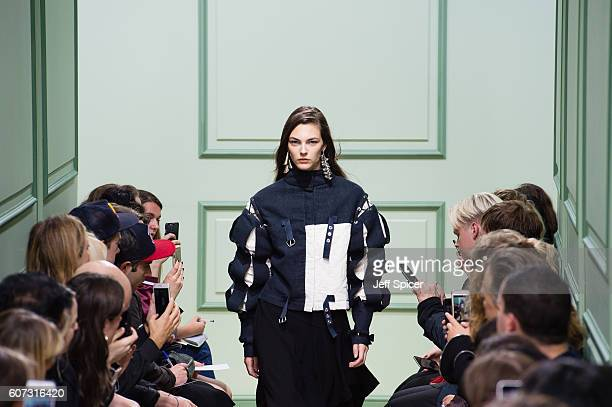 A model walks the runway at the JW Anderson show during London Fashion Week Spring/Summer collections 2017 on September 17 2016 in London United...