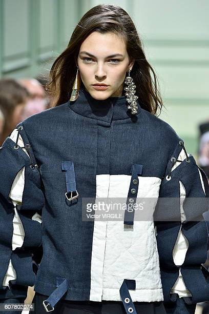 A model walks the runway at the JW Anderson show during London Fashion Week Spring/Summer collections 2016/2017 on September 17 2016 in London United...