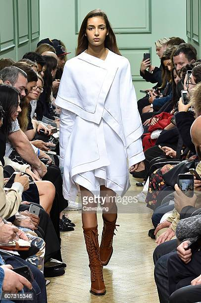 A model walks the runway at the JWAnderson Spring Summer 2017 fashion show during London Fashion Week on September 17 2016 in London United Kingdom