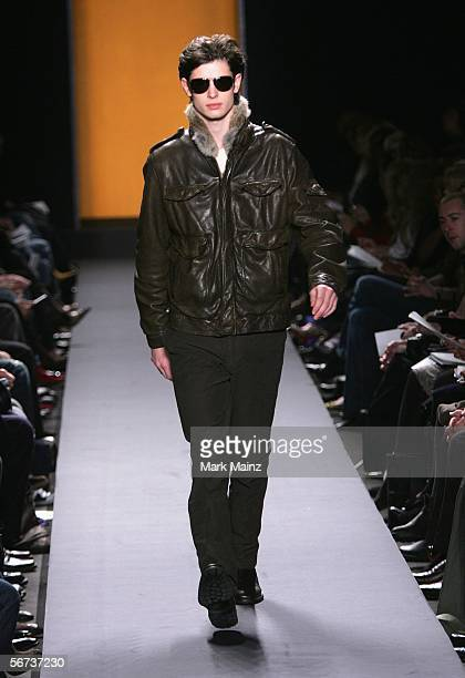A model walks the runway at the Kenneth Cole Fall 2006 fashion show during Olympus Fashion Week at Bryant Park February 3 2006 in New York City