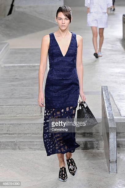 Model walks the runway at the Kenzo Spring Summer 2015 fashion show during Paris Fashion Week on September 28, 2014 in Paris, France.